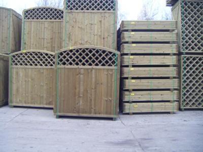 Dřevěné zástěny venkovní